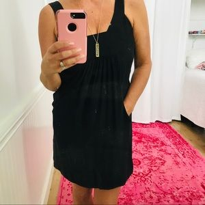 Alice and Trixie Black Silk Dress with Pockets L